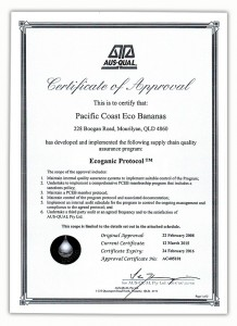 Ecoganic Protocol Certification